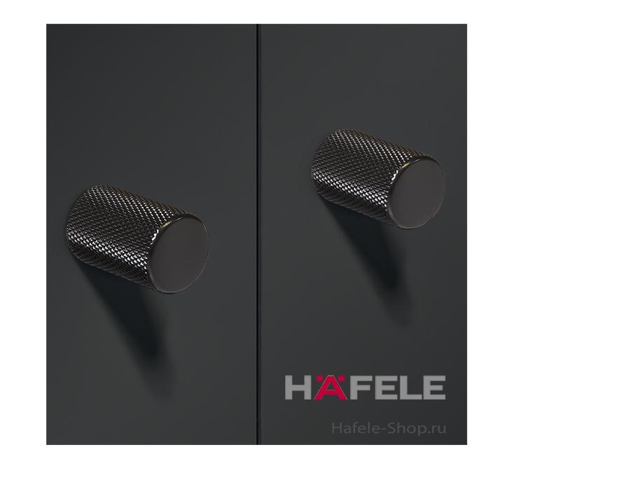 Ручка мебельная, черная матовая, 17 х 28 мм