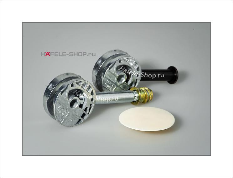 Ввинчиваемая муфта M 8 длина 15 мм для отверстия 10 мм желтое хромирование