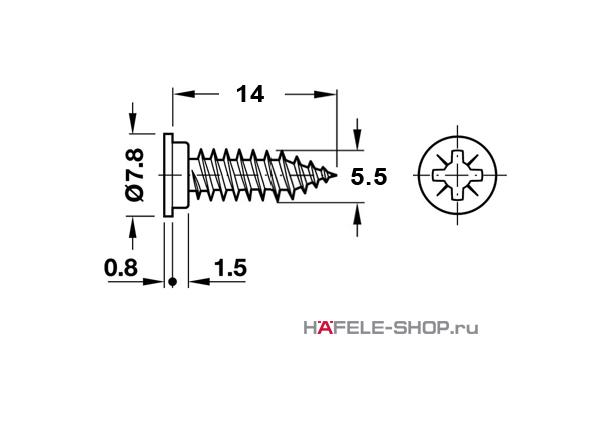 Винт Varianta HC. Для отверстия 3 мм. Сталь, оцинкованный.