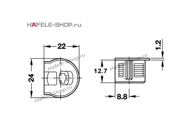 Стяжка мебельная RAFIX 20 с утолщением бежевая для деталей толщиной от 16 мм