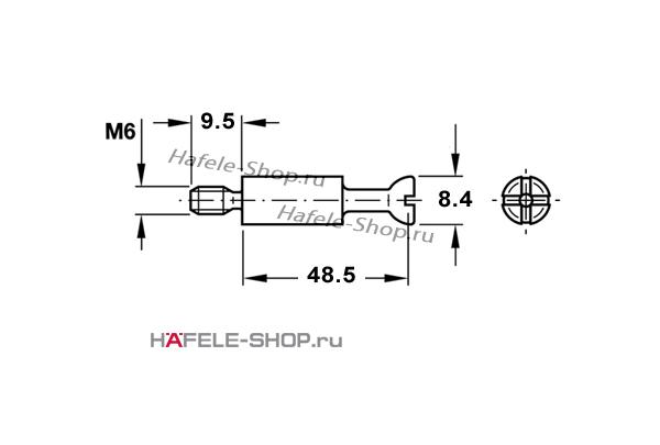 Болт для MAXIFIX E оцинкованный B55/M6x9,5 мм