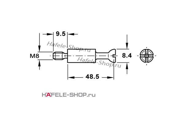 Болт для MAXIFIX E оцинкованный B55/M8x9,5 мм