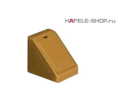Угловая мебельная стяжка MINI с заглушкой бежевая 18 мм