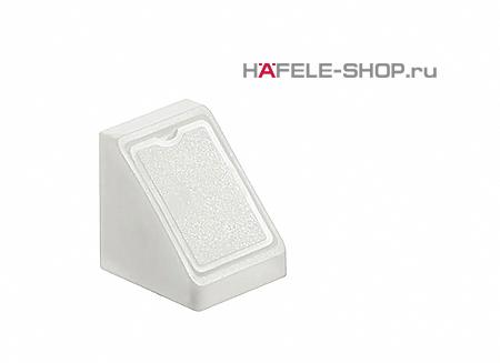 Угловая мебельная стяжка MINI с заглушкой белая 18 мм