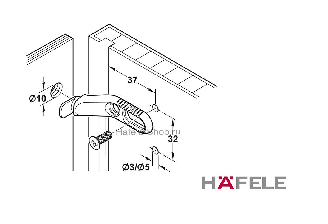Стяжка мебельная для задней стенки никелированная