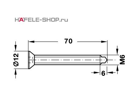 Винт с потайной головкой оцинкованный M6x70 мм
