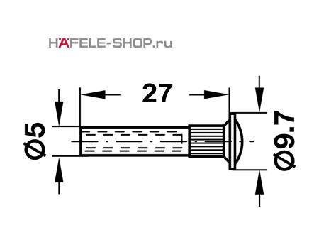 Резьбовая втулка M4 размер 5x27мм