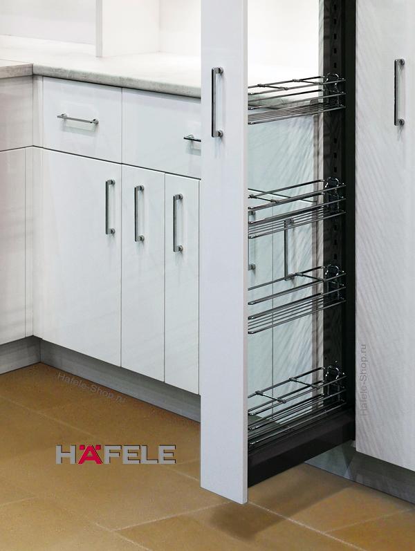Выдвижная колонна на кухне, CRYSTAL, ширина фасада 150 мм, высота 1900 - 2200 мм