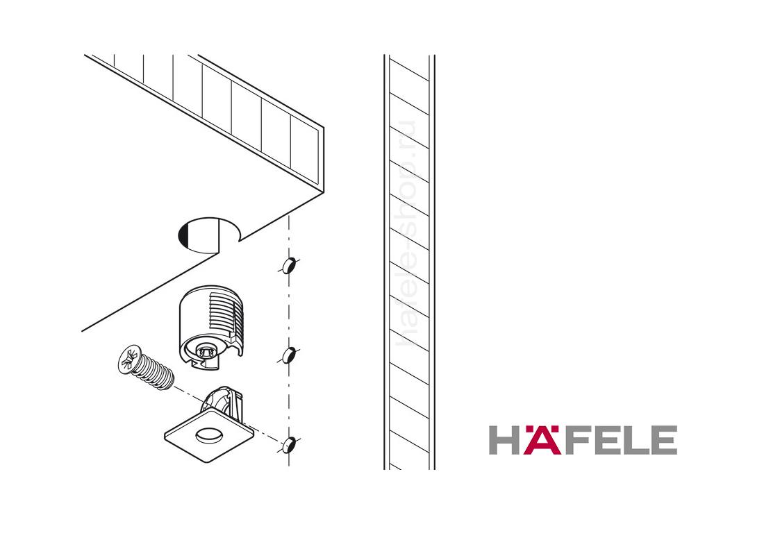 Стяжка полкодержатель Tab18 для толщины детали от 19 мм