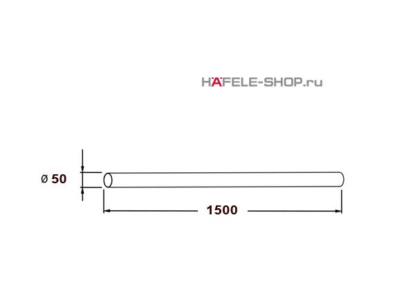 Труба стойка барная диаметр 50 длина 1500 мм  цвет хром матовый