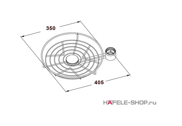 Корзина барабанного типа диаметр 350 мм  цвет хром матовый