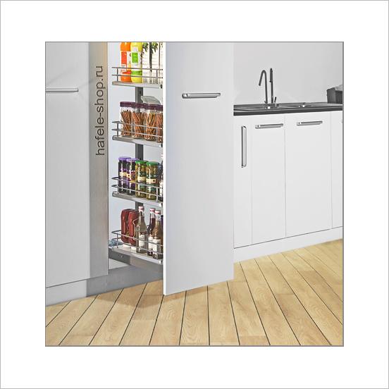 Выдвижная колонна на кухне, ELEGANCE, ширина фасада 400 мм, высота 1200 - 1500 мм