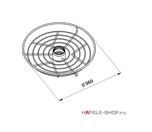 Корзина центральная диаметр 350 мм цвет хром полированный