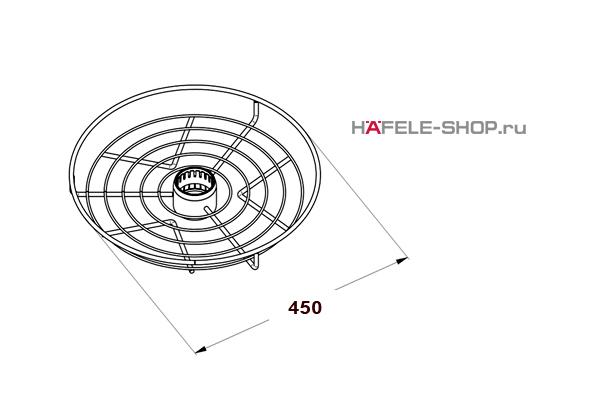 Корзина центральная диаметр 450 мм цвет хром полированный