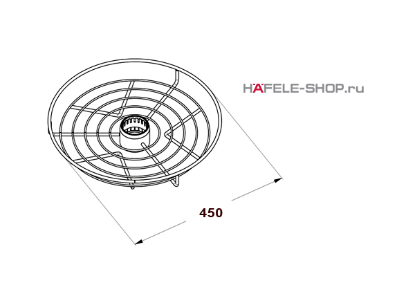 Корзина центральная диаметр 450 мм  цвет хром матовый