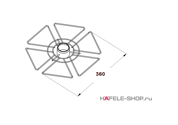 Полка для бокалов диаметр 360 мм цвет хром полированный