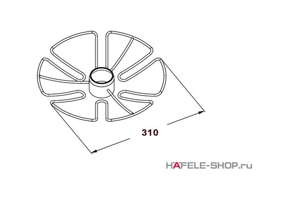 Полка для бокалов диаметр 310 мм цвет хром полированный