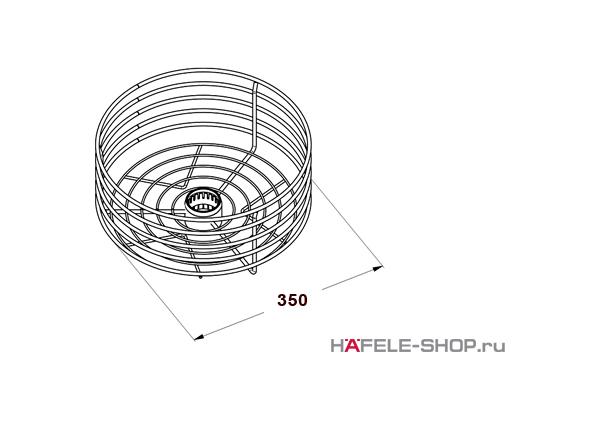 Корзина центральная высокая диаметр 350 мм  цвет хром матовый