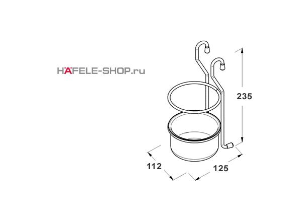 Навесной держатель для кухонных принадлежностей MINI (Кубок)  112x125x235 мм цвет хром полированный