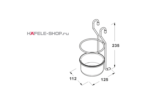 Навесной держатель для кухонных принадлежностей MINI (Кубок)  112x125x235 мм, цвет бронза