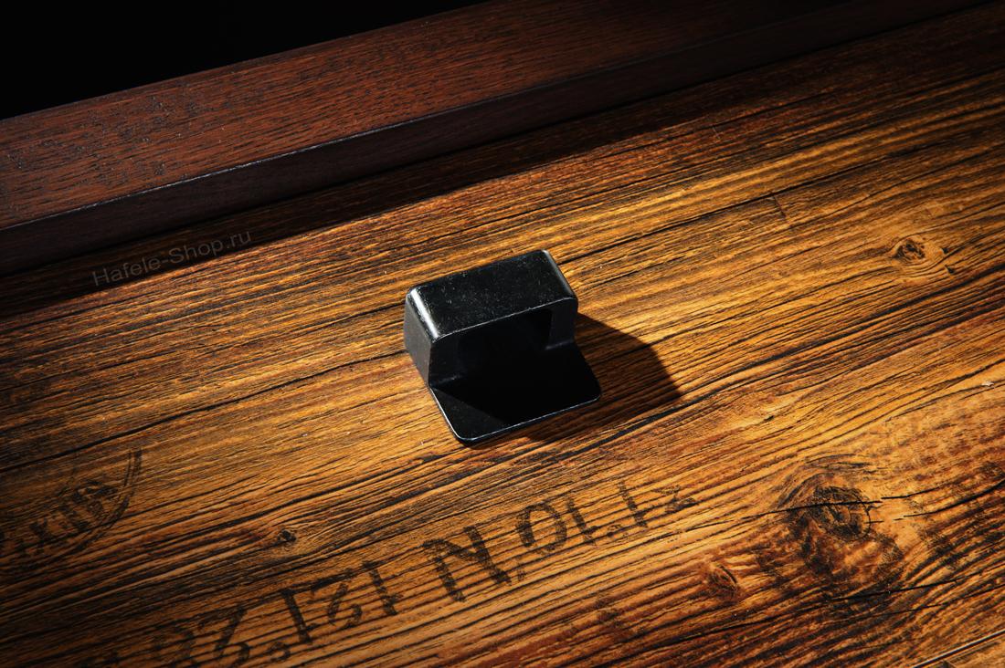 Ручка ретро, винтажный стиль, цвет железо, длина 42 мм, между винтами 32 мм