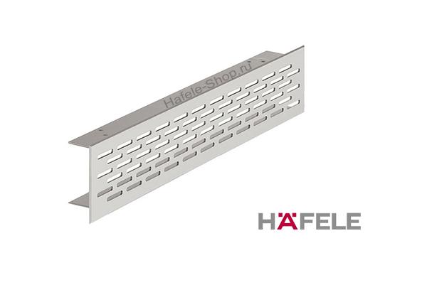 Вентиляционная решетка из алюминия, 500 x 70 мм, цвет серебристый