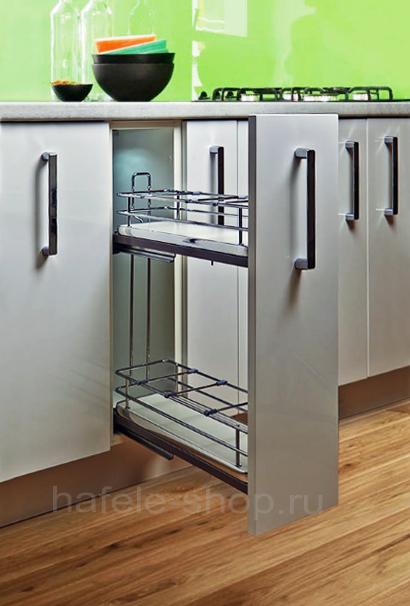 Бутылочница для кухни, ELEGANCE, дно ДСП белое,  крепление слева