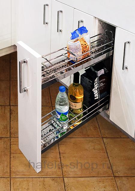 Бутылочница для кухни, ELEGANCE, металлическое дно с зеркальной полировкой, крепление справа
