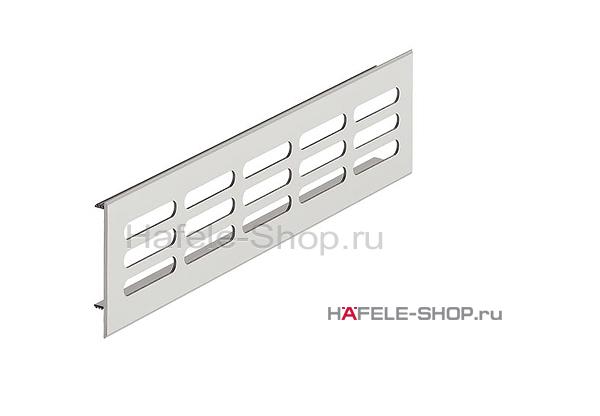 Вентиляционная решетка из алюминия, 250 x 60 мм, цвет серебристый
