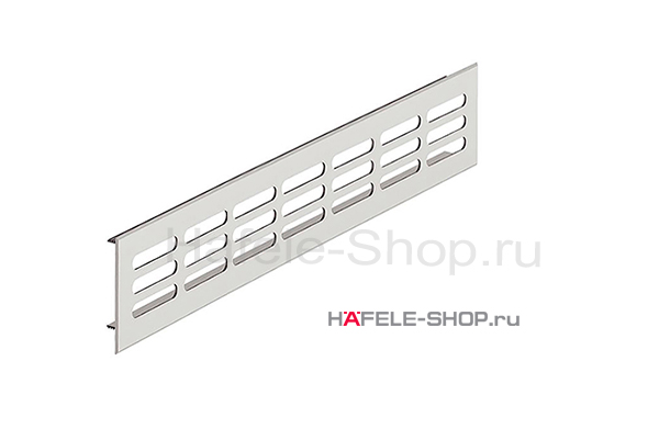 Вентиляционная решетка из алюминия, 400 x 60 мм, цвет серебристый