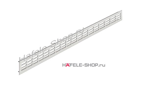 Вентиляционная решетка из алюминия, 2000 x 60 мм, цвет серебристый