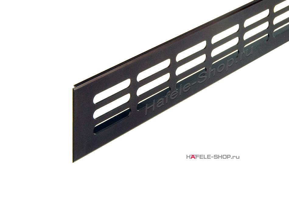 Вентиляционная решетка из алюминия, 500 x 60 мм, цвет темная бронза