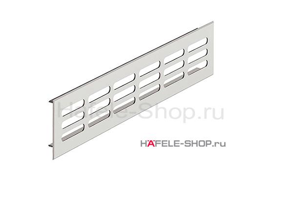 Вентиляционная решетка из алюминия, 500 x 80 мм, цвет серебристый