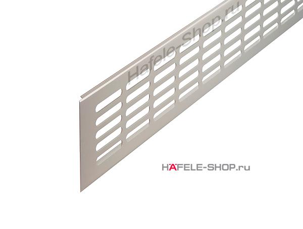 Вентиляционная решетка из алюминия, 2000 x 100 мм, цвет нержавеющей стали