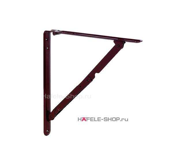 Консоль откидная с несущей способностью 50 кг на пару, сталь, коричневая, длина 320 мм.