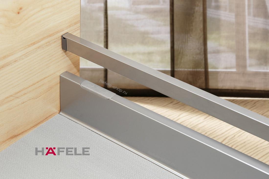 Боковины выдвижного ящика Moovit MX, высота 92 мм, длина 450 мм, цвет серебристый металлик