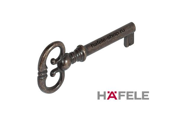 Ключ врезного мебельного замка, цвет бронза