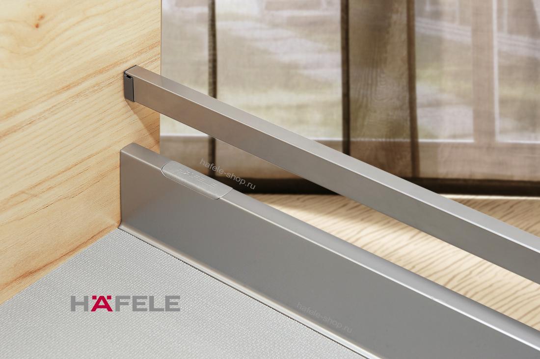 Выдвижной ящик Moovit MX, длина 500 мм, высота 92 мм, нагрузка 30 кг, цвет серебристый металлик