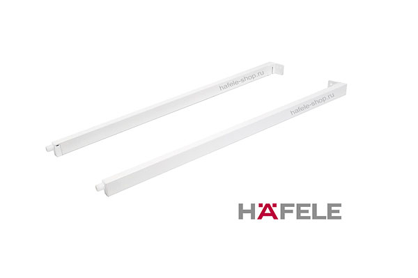 Боковые прямоугольные рейлинги ящика Moovit MX, длина 550 мм, цвет белый