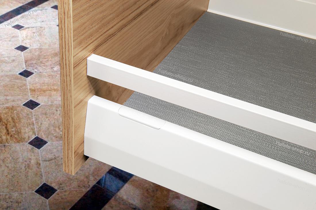 Боковые прямоугольные рейлинги ящика Moovit MX, длина 600 мм, цвет белый