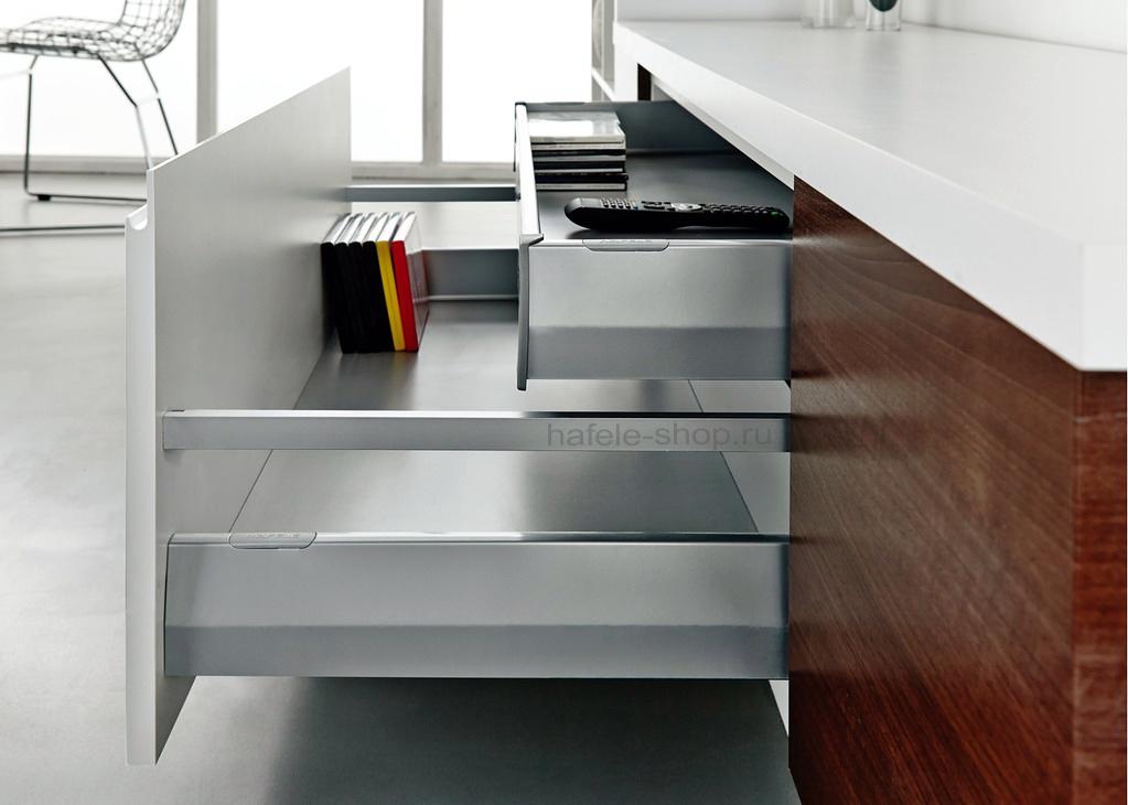 Боковины выдвижного ящика Matrix Box P, высота 92 мм, длина 600 мм, цвет серый