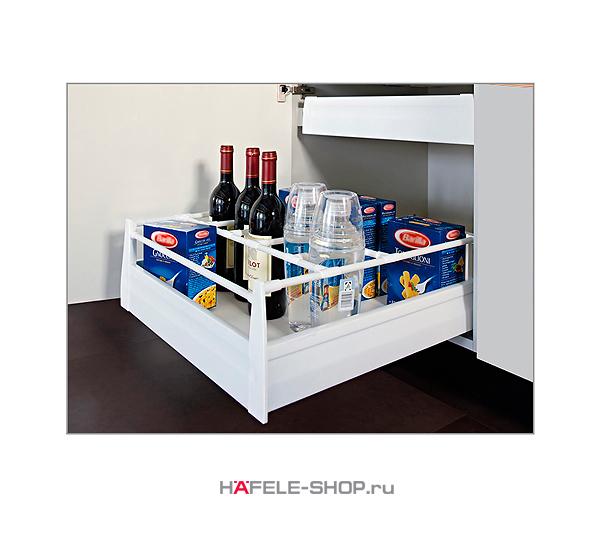 Лицевая панель для внутреннего выдвижного ящика цвет белый металлик, длина 488 мм