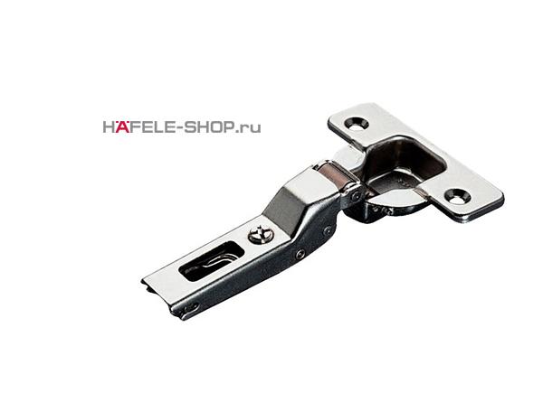 Петля HAFELE Duomatic Push Угол раскрытия 110 гр. для полунакладной  двери, схема  52/5,5 мм