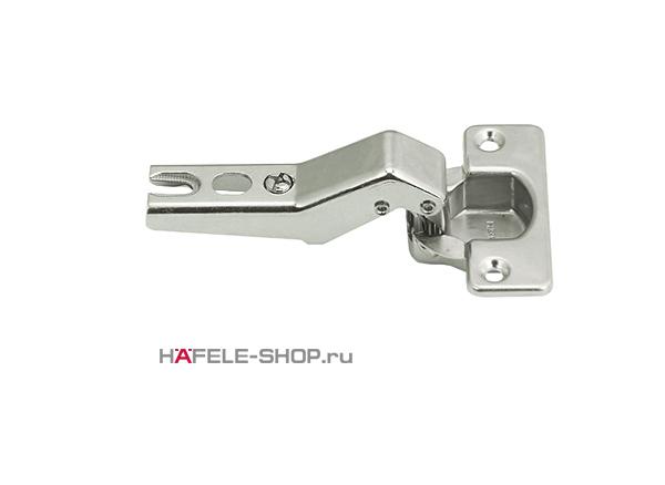 Петля Metallamat HAFELE угловое крепление 30 гр. Угол раскрытия 92 гр. 48/6 монтаж задвижением