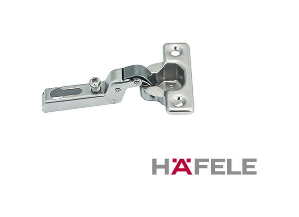 Петля Metallamat Mini Угол раскрытия 95 гр. Для полунакладных дверей  схема 38х7,5 мм