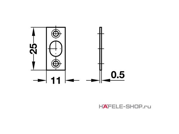 Шариковая защелка мебельная для запрессовки D11 мм глубина 11 мм
