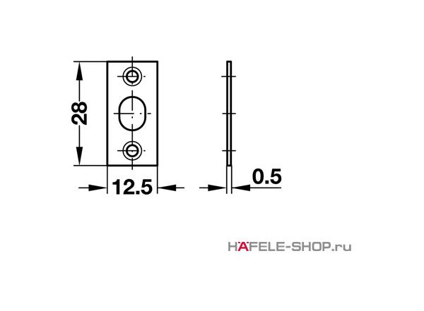 Шариковая защелка мебельная для запрессовки D12,5 мм глубина 12 мм