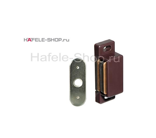 Магнитная мебельная защелка удерживающее усилие 2 кг цвет бордо темный