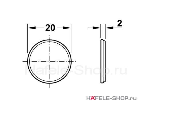 Ответная часть защелки для приклеивания, сталь D20 мм