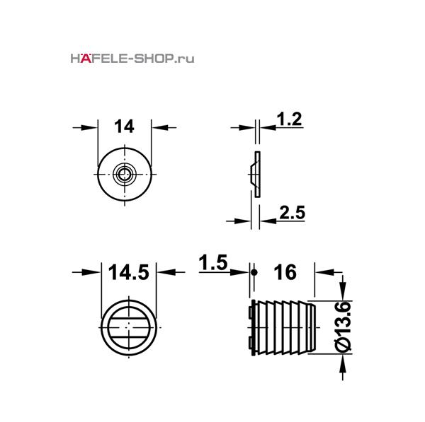 Магнитная мебельная защелка удерживающее усилие 2,5-3,5 кг белая